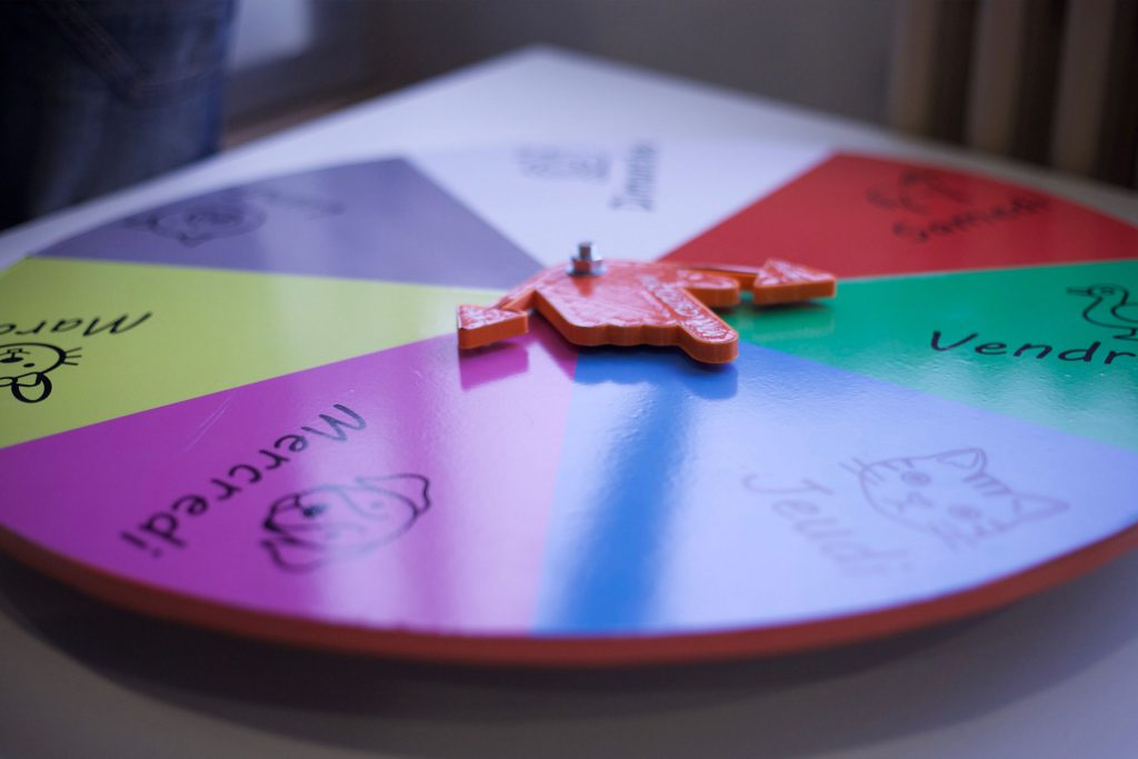 Horloge manuelle d'activités